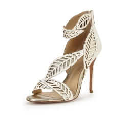 Unique Serenity Ivory Occasion Heeled Sandal