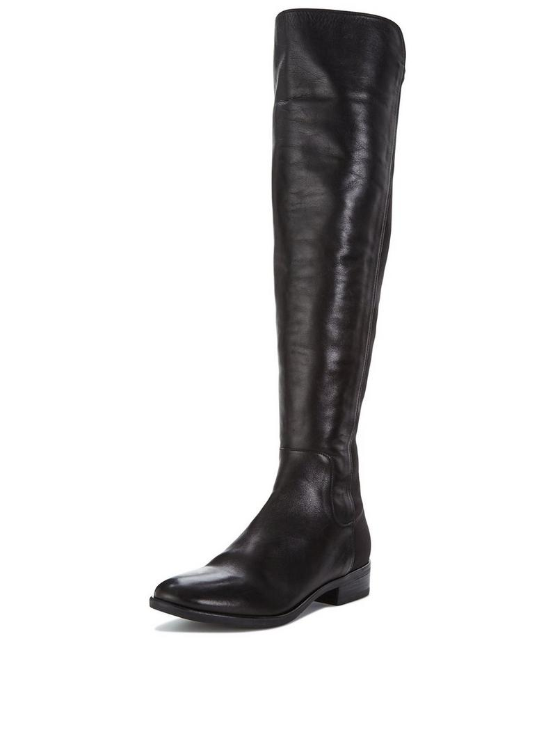 9ee15a7c22c Shoes Shopper - Clarks Caddy Belle Leather Over The Knee Boot