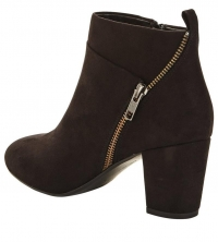 Cleveland Mid Heeled Zip Detail Boot
