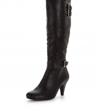 Dormer Knee Boots With Strap Detail