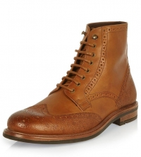 River Island BROGUE MILITARY BOOT