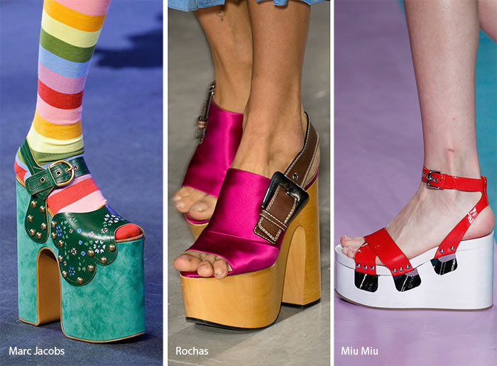 spring summer 2017 shoe trends platform shoes